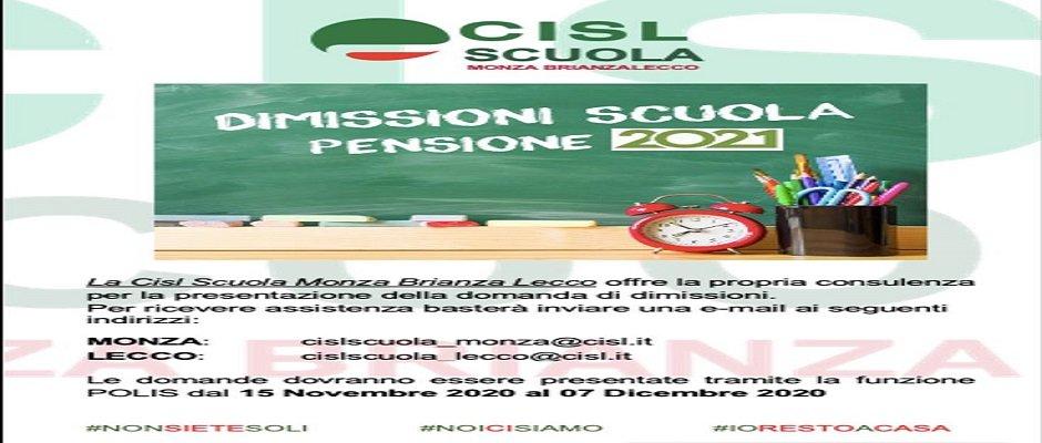 DIMISSIONI PENSIONI SCUOLA SCADENZA 7 DICEMBRE 2020